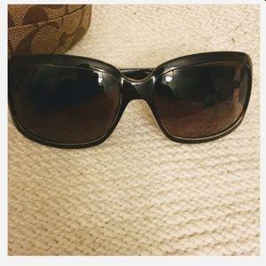 Coach Brown Christiana Glitter Logo Sunglasses